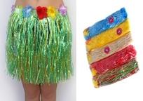 Юбка на гавайскую вечеринку из мусорных пакетов 31